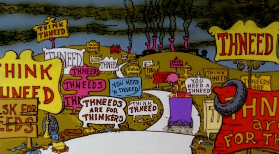 Still from the 1972 TV special, The Lorax.